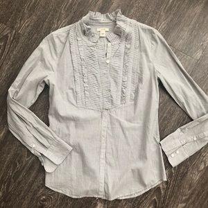 Jcrew Blouse Button up dress shirt work striped 0